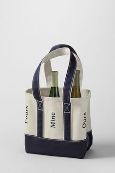 Six Bottle Canvas Wine Tote from Lands End.  Madeline Price... for 4232b64c6b4ab