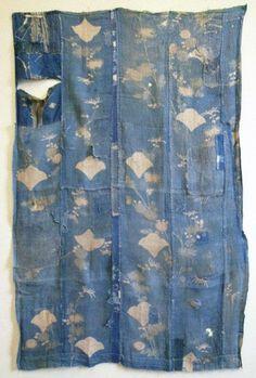 18th century ramie boro: formal kimono: SRI Threads