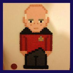 Star Trek Picard perler pixel art or magnet by K8BitHero on Etsy
