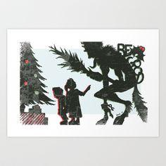 Be Good Krampus Art Print by Dawlism - $18.72