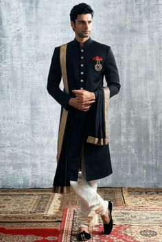 What to Wear to an Indian Wedding as a Male Guest . You can try Bright color Silk Sherwani+ Jooti