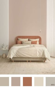 5 Beautiful and Totally Workable Color Palettes for Your Bedroom. 5 Beautiful and Totally Workable Color Palettes for Your Bedroom. good starting point for your future bedroom makeover! Bedroom Colour Palette, Bedroom Wall Colors, Bedroom Color Schemes, Home Decor Bedroom, Room Color Ideas Bedroom, Beige Color Palette, Colors For Bedrooms, Bedroom Interior Colour, Beige Walls Bedroom