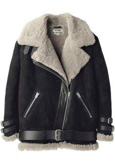 Acne Studios / Velocite Oversized Shearling Jacket   La Garçonne