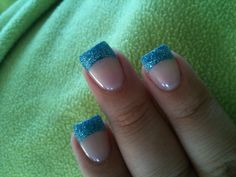 Love my teal nails