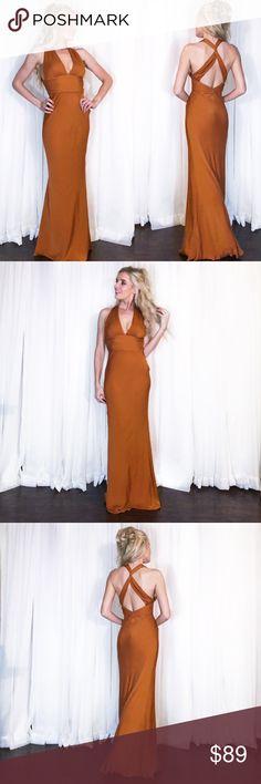 Orange Nicole Miller Open Back Fitted Prom Dress