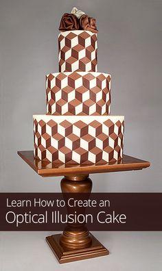 Creating an Optical Illusion Cake