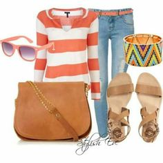 I love the Classic Stripe with the Colorful Aztec idea