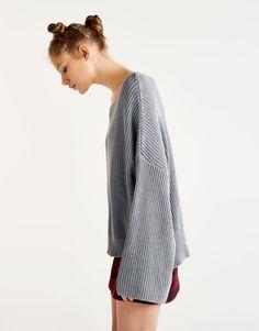 Acid wash sweater - Knit - Clothing - Woman - PULL&BEAR United Kingdom