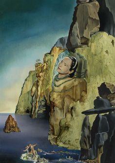 """""""Princess Arthchil Gourielli (Helena Rubinstein)"""", 1943, Salvador Dalí."""