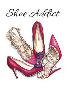 Shoe Addict #dollmemories #shoes #fashion #art #valentino #manoloblahnik