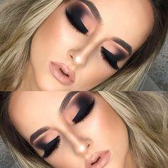 Eye tattoo ideas beauty make up 61 Super ideas Glam Makeup, Makeup Inspo, Makeup Inspiration, Face Makeup, Eyebrow Makeup, Makeup Goals, Makeup Tips, Makeup Ideas, Brown Matte Lipstick