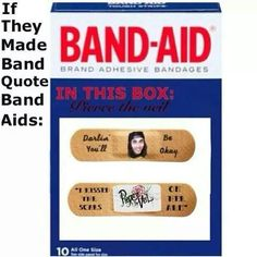 this fandom dude...I'd buy these band-aids every time!