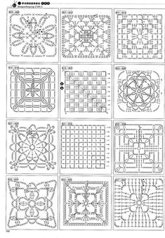 more crochet square patterns 23