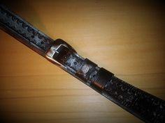 Black belt Leather Belts, Black Belt, Leather Craft, Pocket, Leather Crafts, Bag