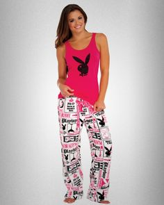 Playboy Headlines Pant Sleepwear Set by Playboy Intimates for PlayboyStore.com $37.95