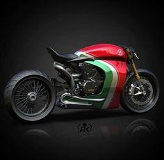 Ducati Panigale custom cafe racer