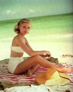 Grace Kelly in Montego Bay, Jamaica, by Howell Conant. 1955