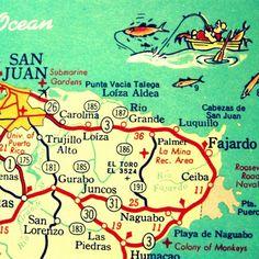 SAN JUAN Puerto Rico map print