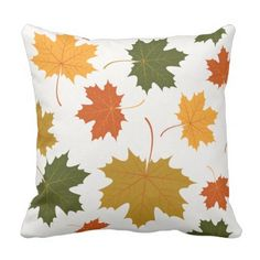 Accent Throw Pillow-Autumn Falling Leaves Throw Pillow - home decor design art diy cyo custom Outdoor Gifts, Fall Decor, Holiday Decor, Fall Projects, Modern Bedroom Design, Leaf Art, Leaf Prints, Fabric Painting, Pillow Design
