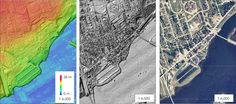 LIDAR surface modeling of Bouctouche New Brunswick - LIDAR compared to Aerial image