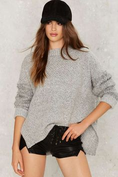Knit Can Happen Asymmetric Sweater | Shop Clothes at Nasty Gal!