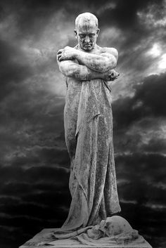 Kinda scary looking, but, kinda cool, too. ~tg~ Cemetery Sculpture in Milano, Italy