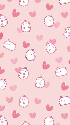 Cute, pink, and wallpaper image wallpaper pink cute, kawaii wallpaper, pattern wallpaper Cartoon Wallpaper, Wallpaper Pink Cute, Rabbit Wallpaper, Kawaii Wallpaper, Cute Wallpapers For Ipad, Cute Wallpapers Quotes, Cute Wallpaper Backgrounds, Mobile Wallpaper, Iphone Wallpapers