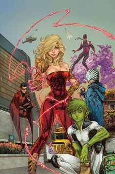 """The reaction to Janelle Asselin's thoughtful evaluation of DC Comics' new """"Teen Titans"""" #1 cover has become a bigger news story than the initial critique.   All Asselin -- a woman -- had to do to get rape threats thrown her way -- by men -- was write a few hundred words about a comic book cover. Think about that; a woman writes an op-ed about a comic book cover, and men immediately bust out the rape threats."""
