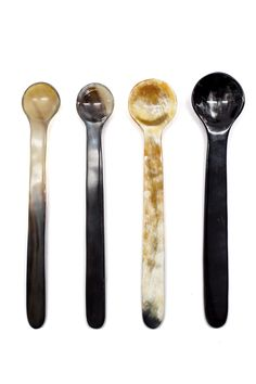 These ethically sourced cow horn spoons would be great for finishing off a party tablescape.