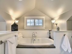 Dormer in bathroom
