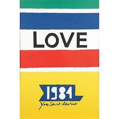 yves saint laurent love posters - Google Search