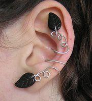 Leafy ear cuff by ~lavadragon on deviantART