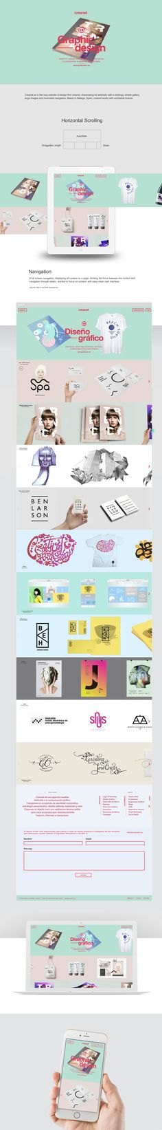 creanet website on Behance