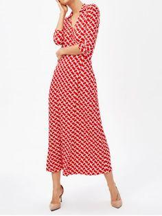 GET $50 NOW | Join RoseGal: Get YOUR $50 NOW!http://www.rosegal.com/maxi-dresses/v-neck-front-slit-retro-1002802.html?seid=teed6s4d2p56q9ik14d6uq5gl5rg1002802