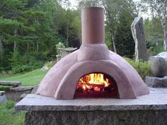 Oh my! I want one of these outdoor ovens for pizza, bread, roast meat.....