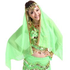 >> Click to Buy << 2017 Women Belly Dance Chiffon Big Veil Shawl Skirt Scarf Gypsy Tribal Headscarf Stage & Dance Wear Dance Scarf Accessories Hot #Affiliate