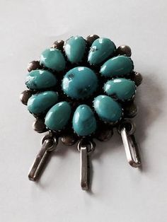 Sterling Silver and Turquoise Brooch or Pendant On Sale   Was $175 Sale Price $70 Limited Time  Dealer #841  Lula B's  1010 N. Riverfront Blvd. Dallas, TX 75207  Open Daily Mon. -- Sat. 1