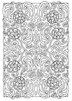 Coloring page mandala a08