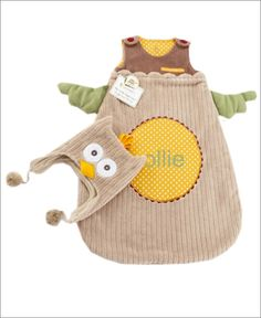 Owl Snuggle Sack and Cap ($36)