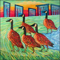 Walking Geese by Tim Noonan, via Flickr