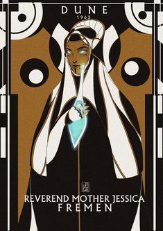 Reverend Mother Jessica, former Sayyadina of the Fremen of Arrakis holding the Water of Life, by Chezka Sunit Dune Characters, Dune Series, Dune Frank Herbert, Dune Art, Tarot, Pop Art Wallpaper, His Dark Materials, Star Wars, Movies