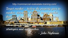 commercial real estate target marketing quote
