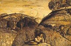The Valley Thick with Corn, Samuel Palmer, Ashmolean Museum
