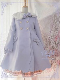 Heather Iris -Sweet Petals- Lolita Winter Coat