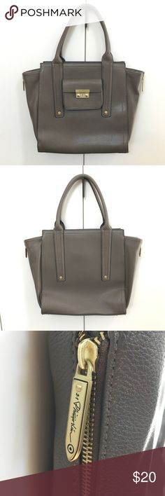 """Phillip Lim for Target Large Tote/Satchel NWOT Phillip Lim for Target Large Tote/Satchel. NWOT. Never used. Brass hardware finish. Taupe/Gray faux leather.          21.11""""L x 15""""H x 4""""W 3.1 Phillip Lim for Target Bags Totes"""