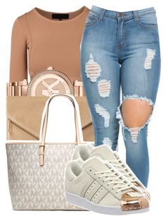 A fashion look from November 2016 by trinsowavy featuring adidas, MR., Michael Kors and MICHAEL Michael Kors Winter Outfits For Work, Summer Outfits, Cute Outfits, Urban Fashion, Teen Fashion, Fashion Outfits, Fashion Ideas, Rose Gold Adidas, Gold Outfit