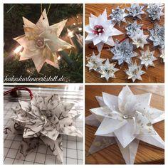Weihnachts-Origami-Stern