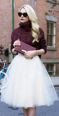 Beautiful Pleated 6 Layers Flared Veil Skirt