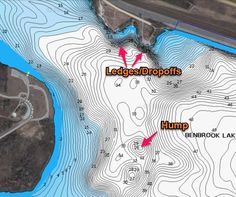 Using structure and cover for better bass fishing. Learn how to identify structure on a topographic map.