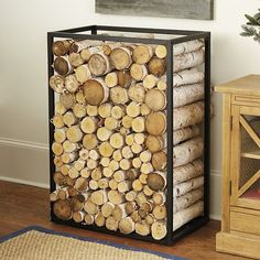 Best Ideas For Fire Place Wood Storage Indoor Hearth Outdoor Firewood Rack, Firewood Holder, Firewood Storage, Rustic Outdoor Furniture, Diy Outdoor Table, Metal Furniture, Plywood Storage, Wood Storage Box, Storage Ideas